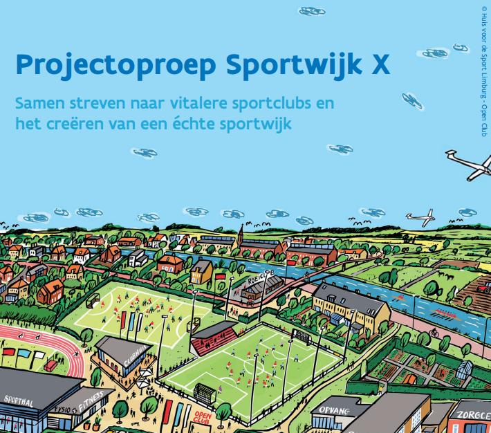 Sportwijk X -Tekening van een sportieve wijk